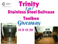 Trinity 3 in 1 Stainless Steel Suitcase Toolbox Giveaway