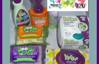 Boogie Wipes and Kandoo products and a $20 Walmart Gift Card Giveaway