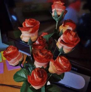 Make Bacon Roses