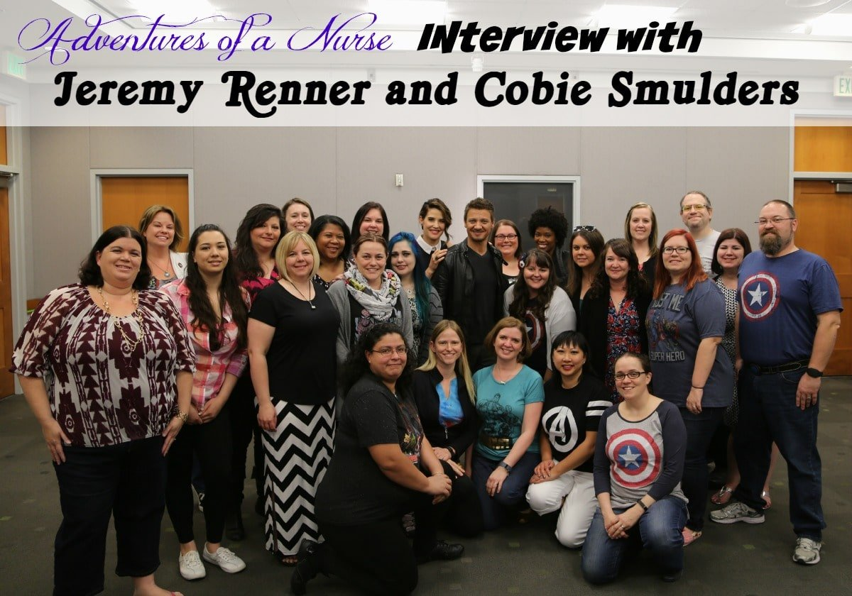Adventures of a Nurse Sits down with Jeremy Renner and Cobie Smulders