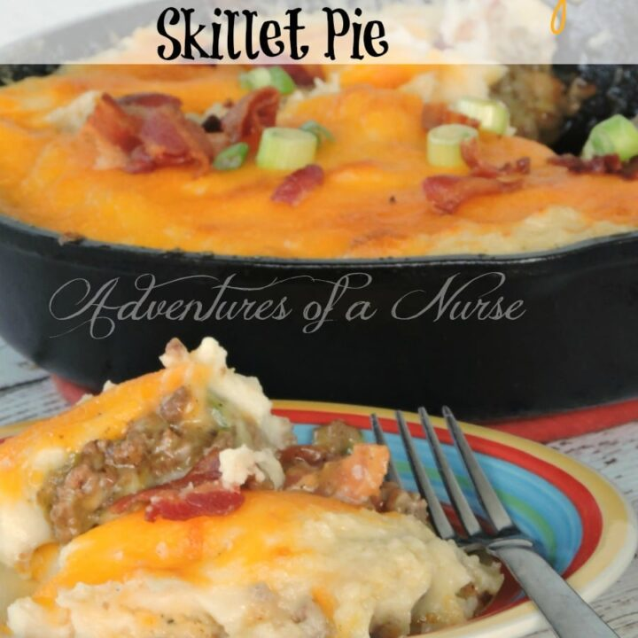Bacon Cheeseburger Skillet Pie