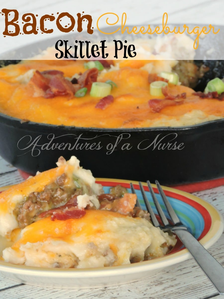 Bacon Cheeseburger Skillet Pie