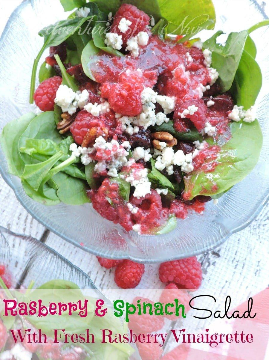 Rasberry & Spinach Salad with Fresh Rasberry Vinaigrette