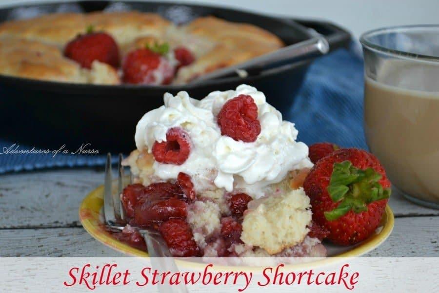Skillet Strawberry Shortcake