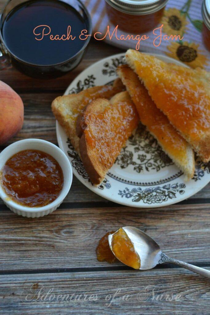 peach and mango jam