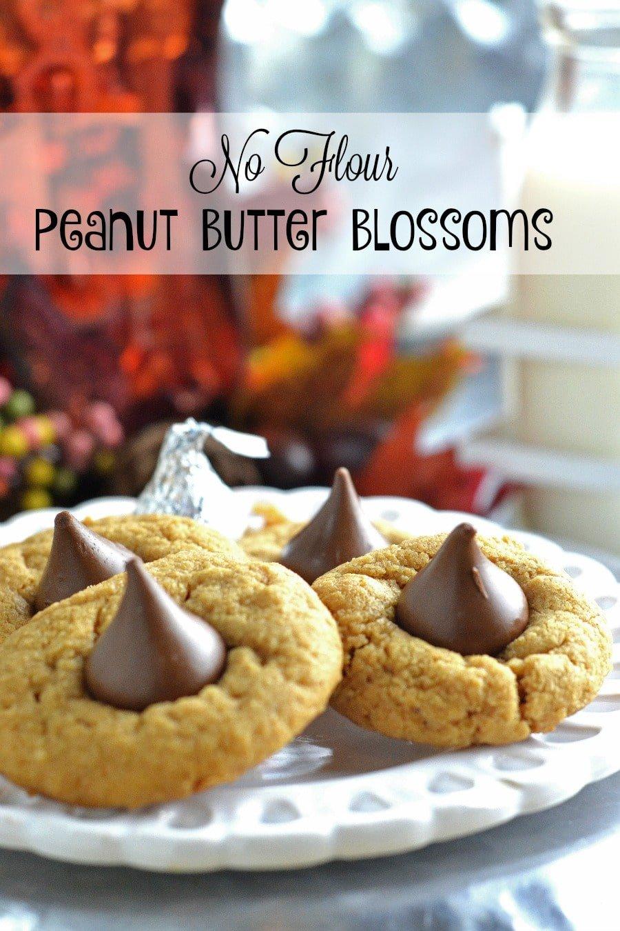 no flour peanut butter blossoms
