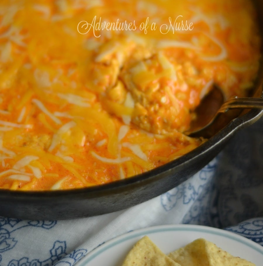 Skillet Chicken Wing Dip