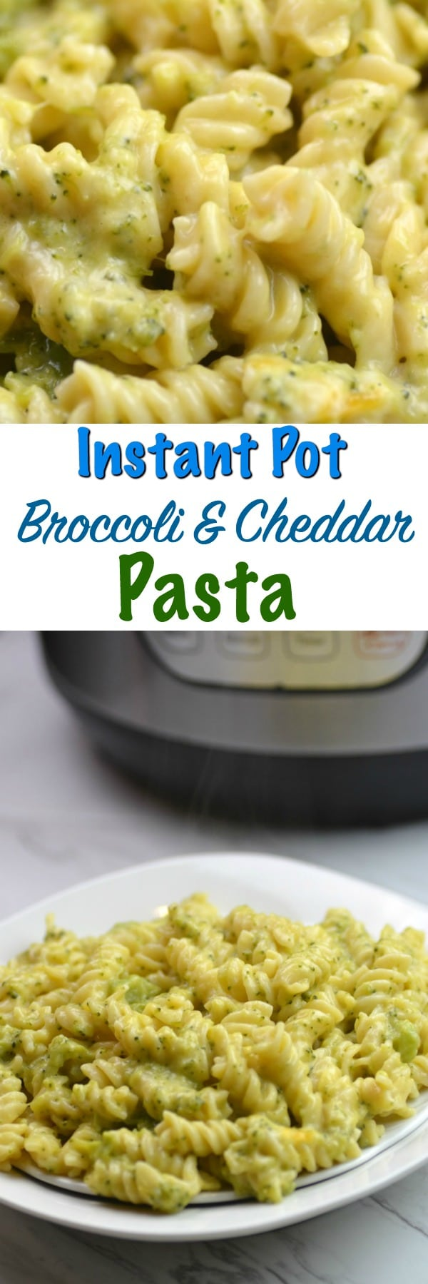 instant pot broccoli  cheddar pasta