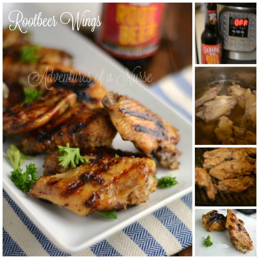 Instant Pot Root Beer Wings