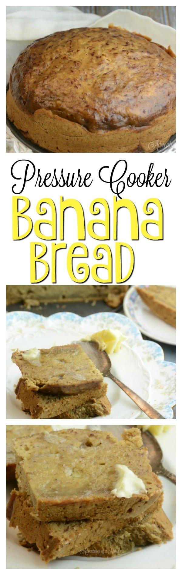 PRESSURE COOKER BANANA BREAD