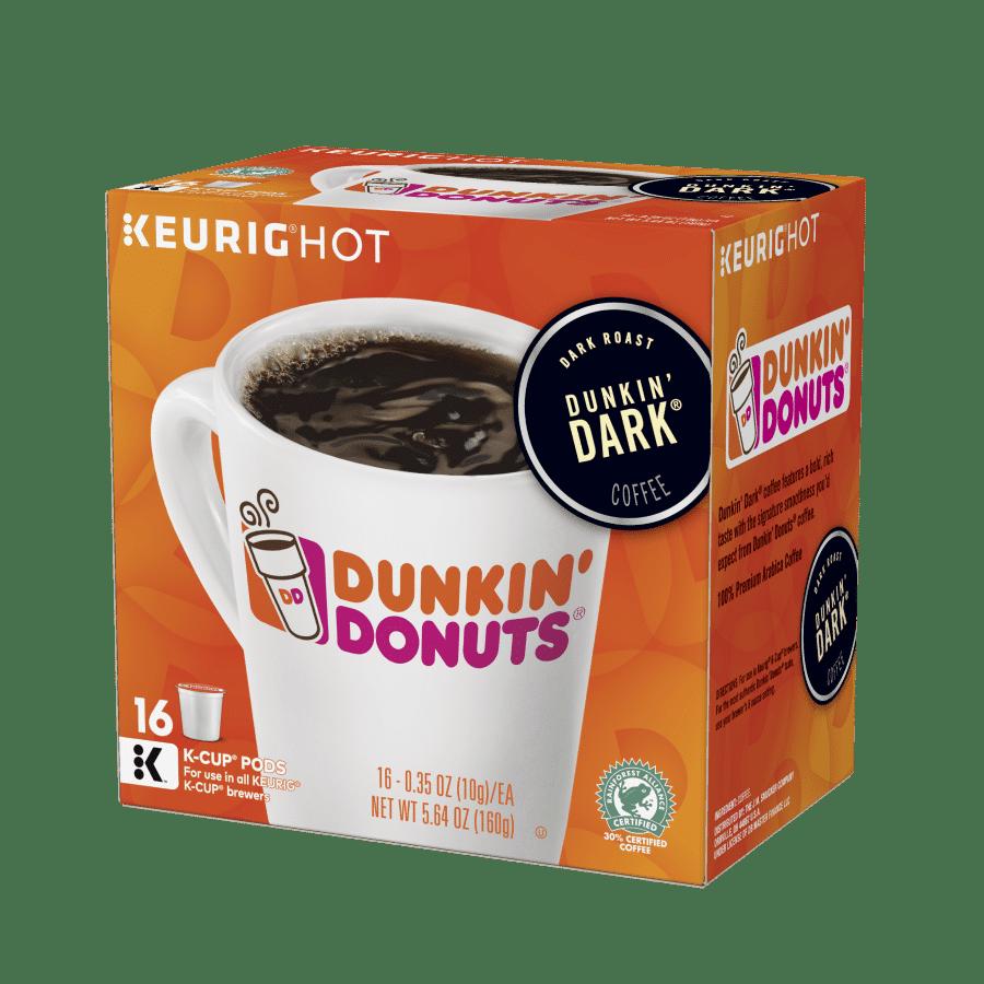 Dunkin' Dark K-Cups 16 Ct Side