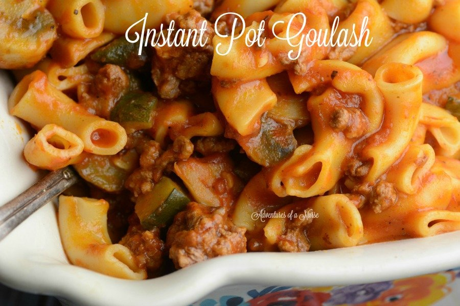 Instant Pot Goulash 12 minute meal
