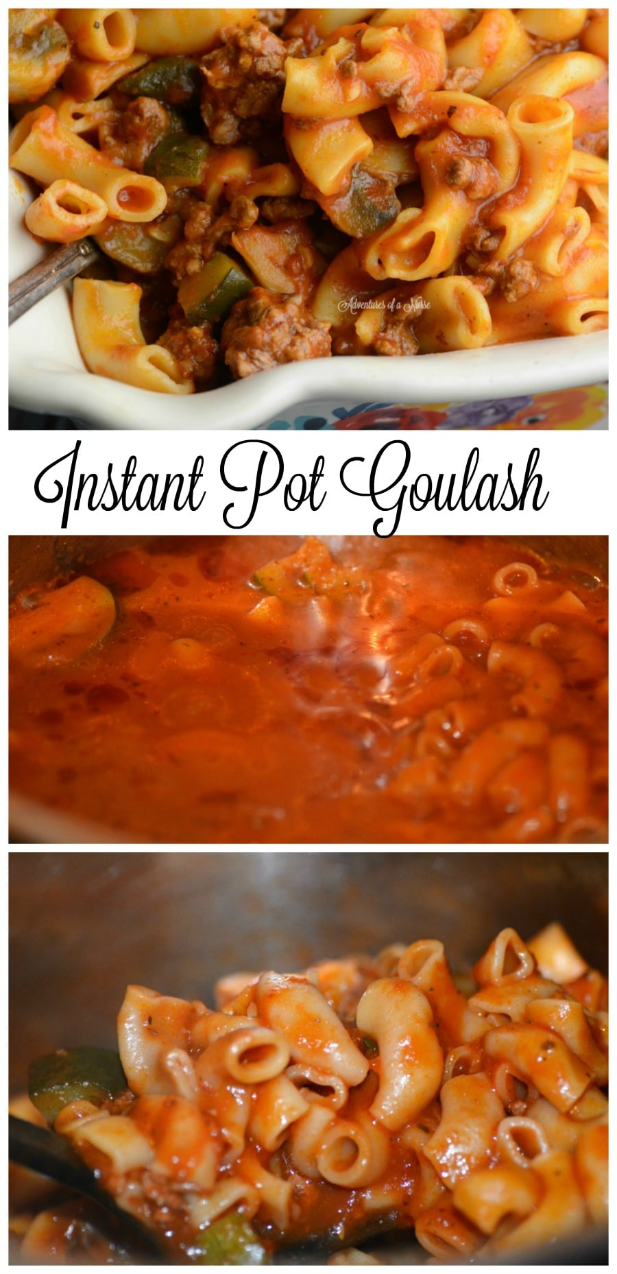Instant Pot Goulash 4 Minute Meal