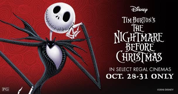 The Nightmare Before Christmas – Returns to Regal Cinemas this Halloween Weekend!!!