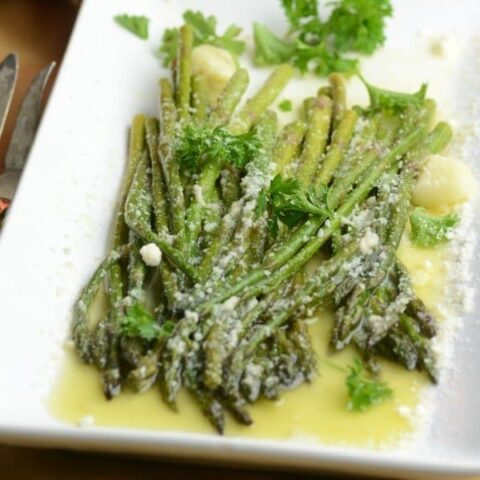 Garlic and Parm Instant Pot Asparagus