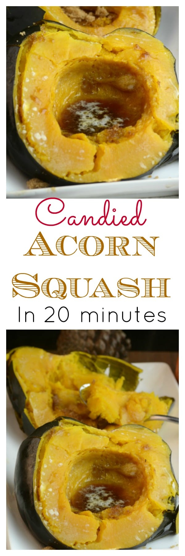 Instant Pot Candied Acorn Squash