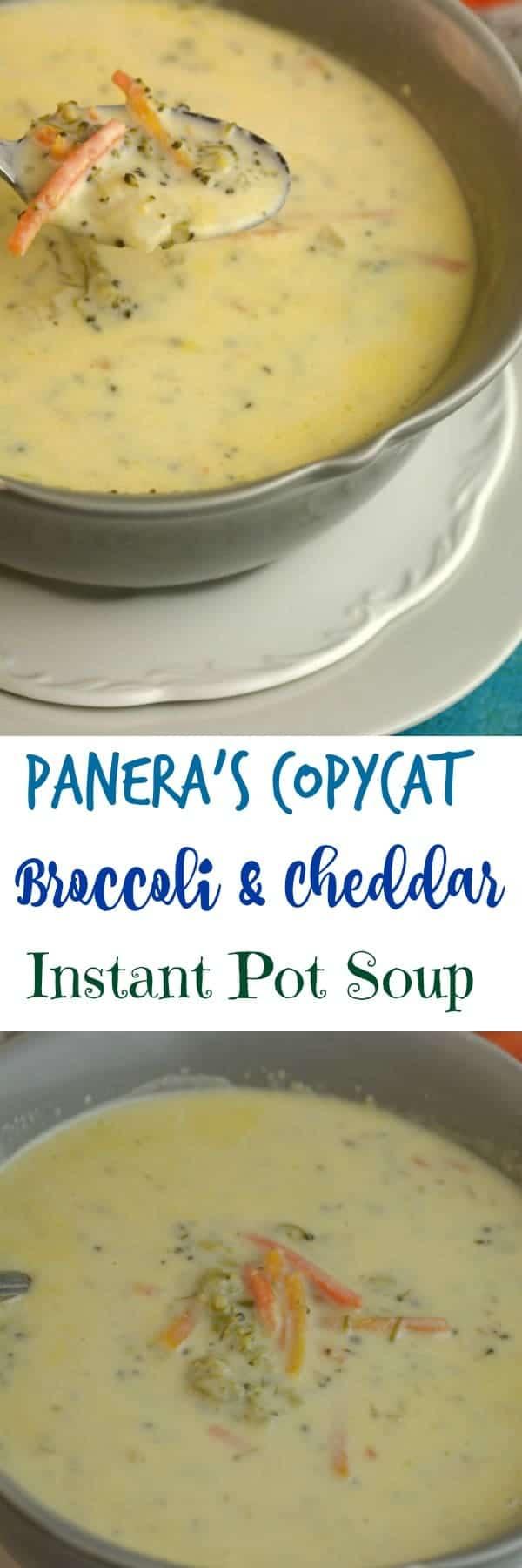 Panera's Copy Cat Broccoli and Cheddar Soup Instant Pot