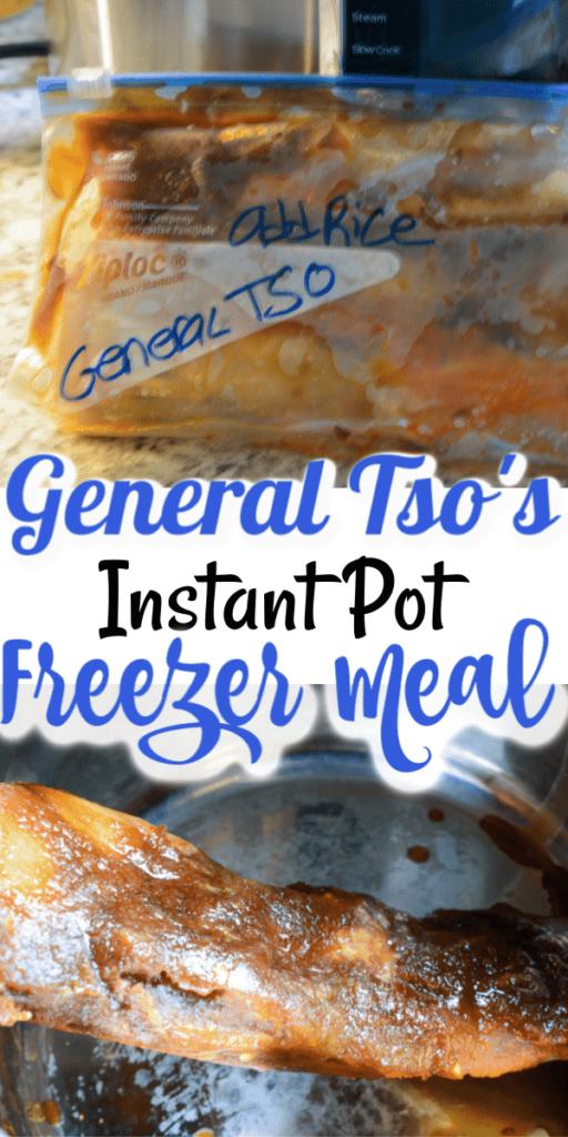 General Tso's Instant Pot Freezer Meal