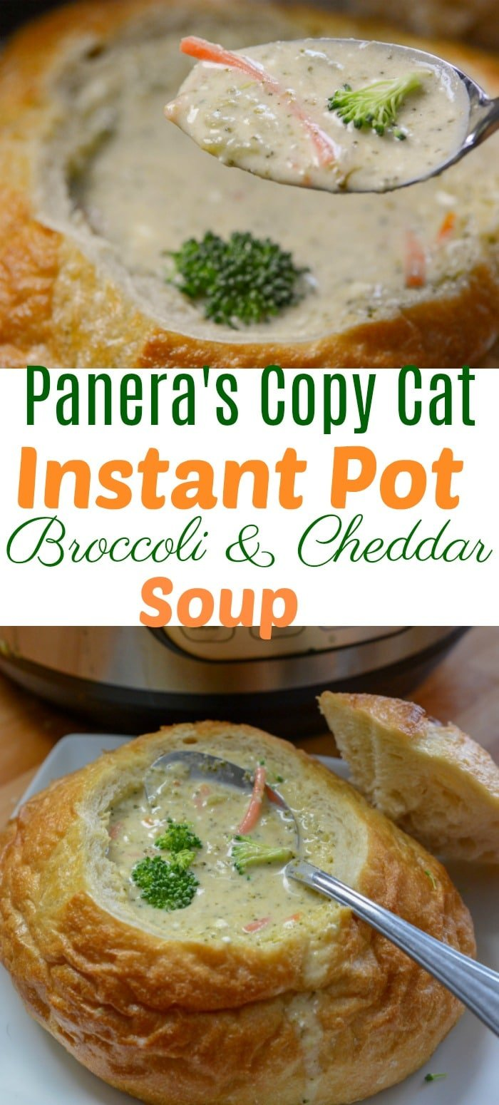 PANERA'S COPYCAT BROCCOLI AND CHEDDAR INSTANT POT SOUP