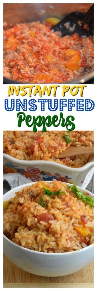 Instant Pot Unstuffed Peppers