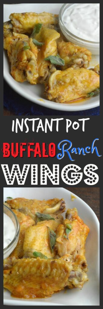Instant Pot Buffalo and Ranch wings