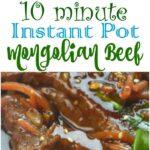 Instant Pot Mongolian Beef #InstantPot #MongolianBeef