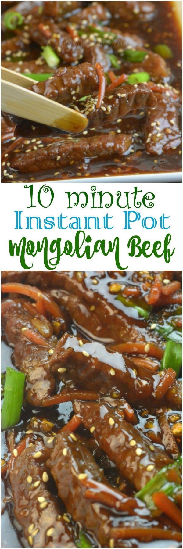 n just ten short minutes you can create this Instant Pot Mongolian Beef recipe that will blow your mind. A little sweet mixed with savory and that creamy sauce makes this Mongolian beef a must make dinner this week