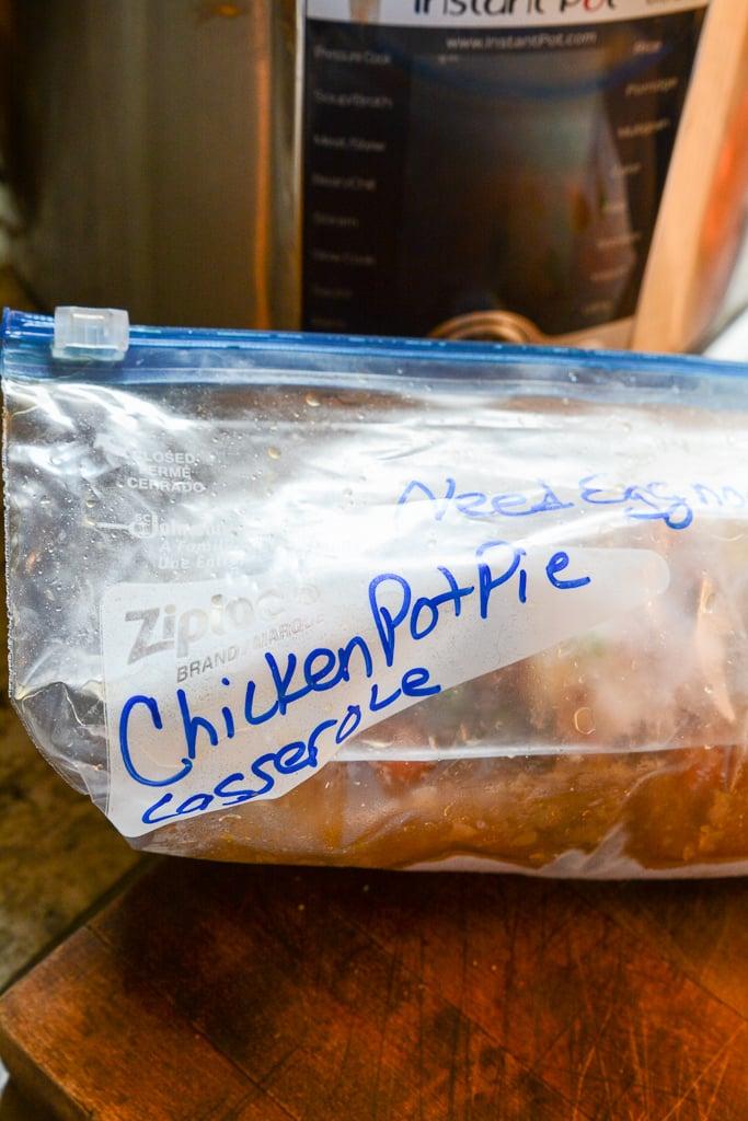 Chicken pot pie casserole frozen