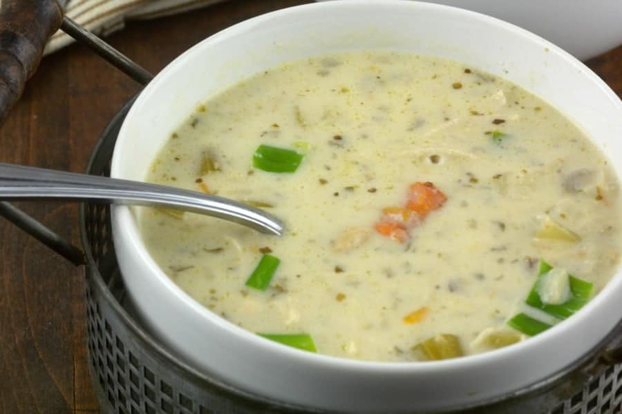 Panera's CopyCat Instant Pot chicken and wild rice soup