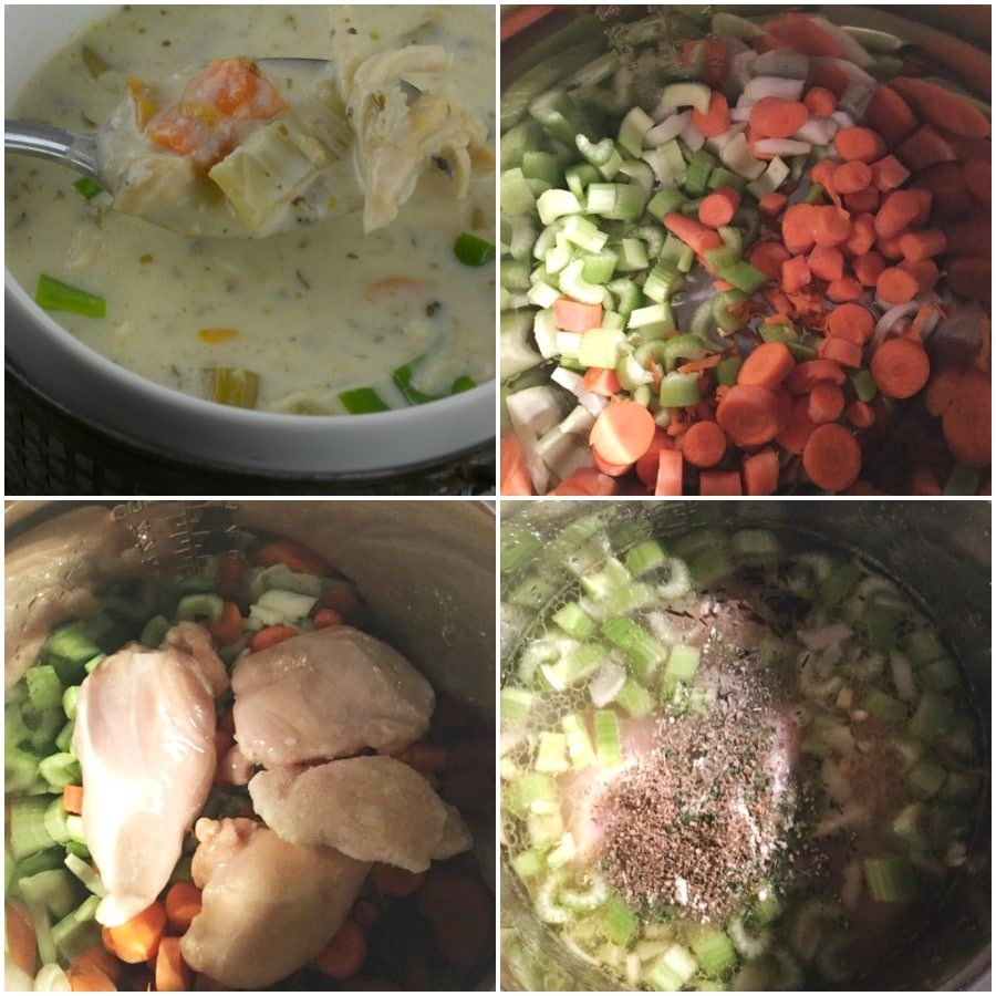 how to make chicken rice soup in instant pot