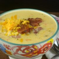 The Ultimate Instant Pot Loaded Corn Chowder