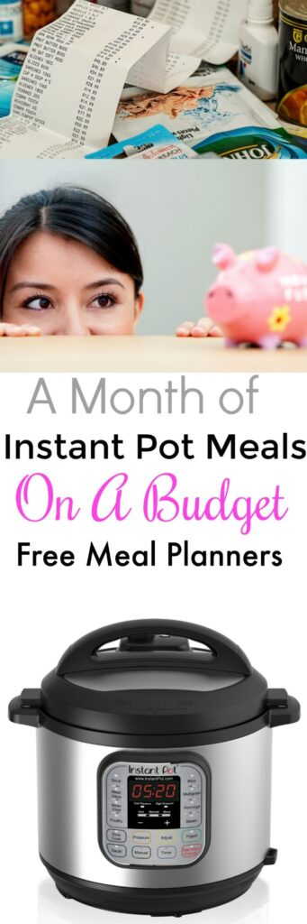 A Month of Instant Pot Meals on a Budget