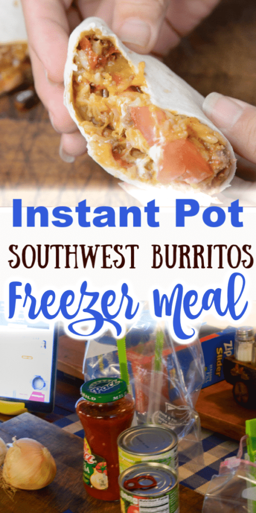instant pot south west burrito freezer meal