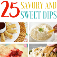25 Sweet and Savory Dips