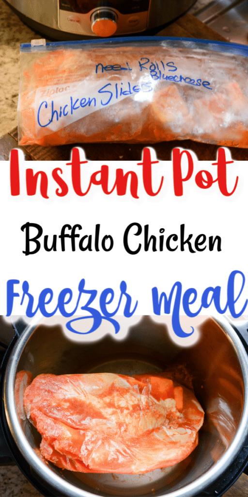 Instant Pot Buffalo Chicken Sliders freezer meal