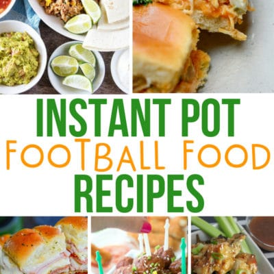 Instant Pot Football Foods
