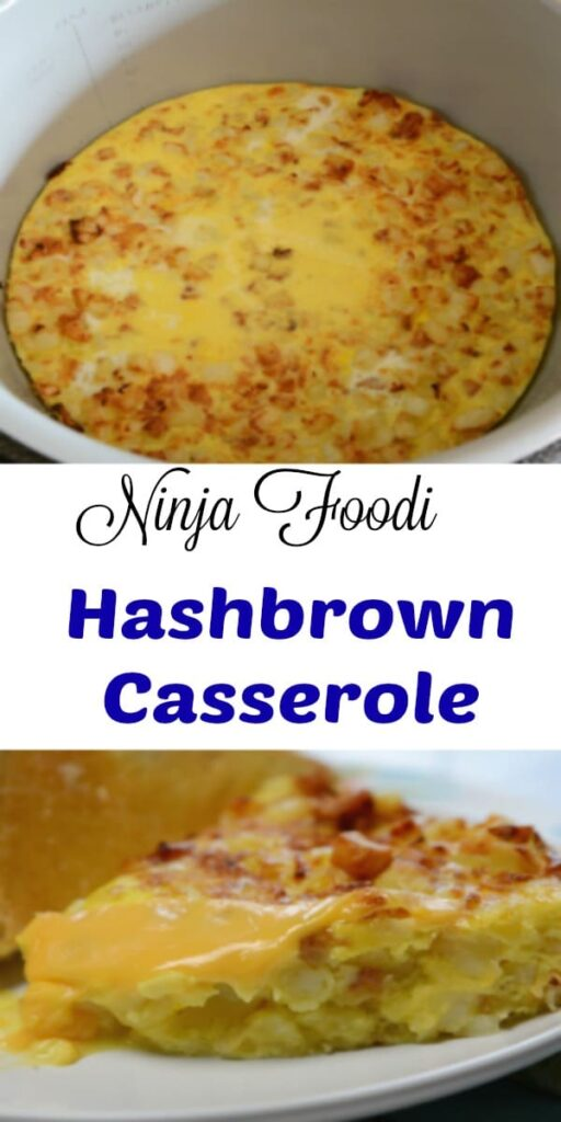 Ninja Foodi hashbrown casserole