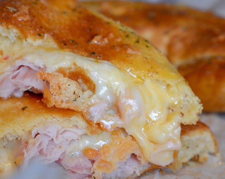 Ham and Cheese Ninja Foodi Stromboli