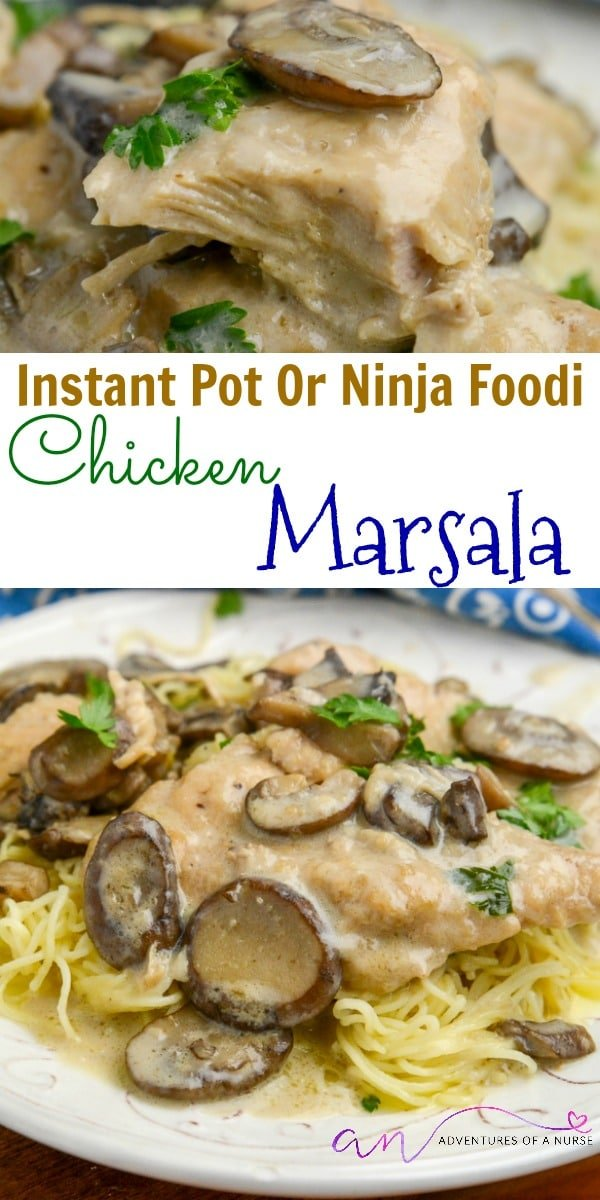 Chicken Marsala Instant Pot or Ninja Foodi