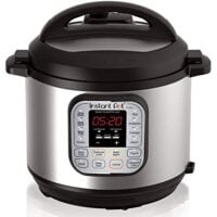 Instant Pot DUO60 6 Qt 7-in-1 Multi-Use Programmable Pressure Cooker, Slow Cooker, Rice Cooker, Steamer, Sauté, Yogurt Maker and Warmer