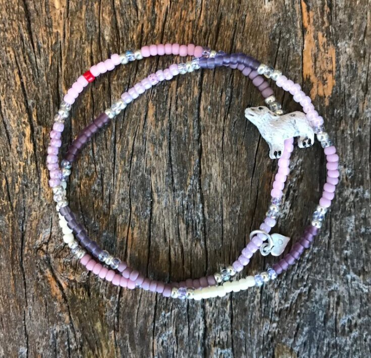 double wrap howling wolf bracelet, lucandbell double wrap bracelet