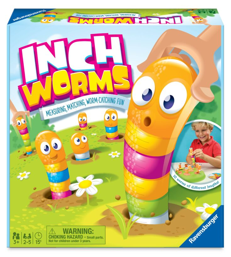 Inch Worms Preschool Board Game, 2-5 Players, Ages 3+ - Walmart.com