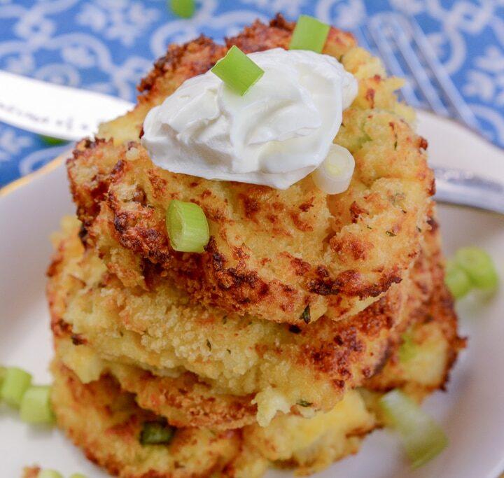 Air Fryer Mashed Potato Pancakes1
