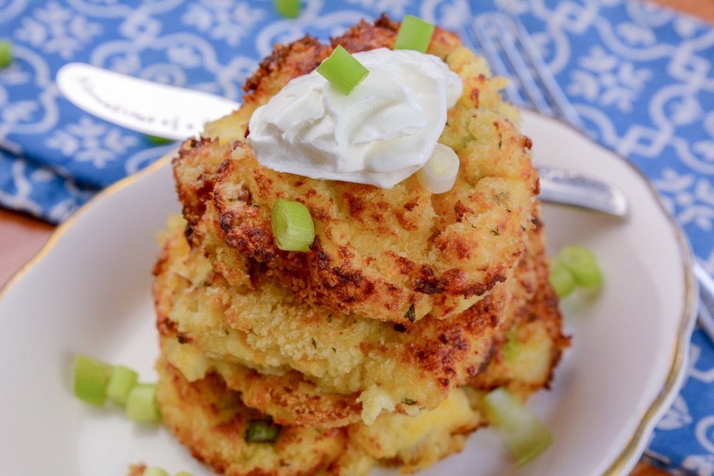 Air Fryer Mashed Potato Pancakes1