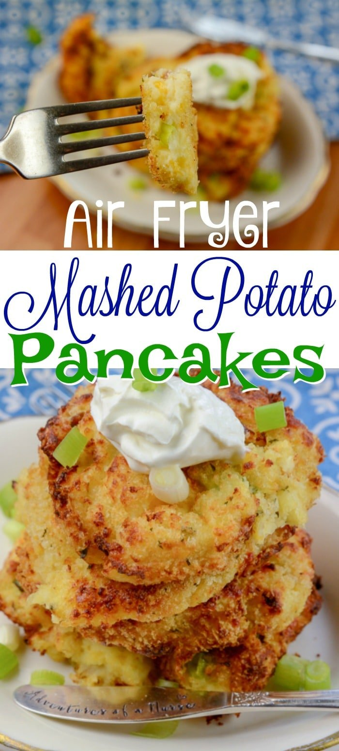 Air fryer Mashed Potato Pancakes