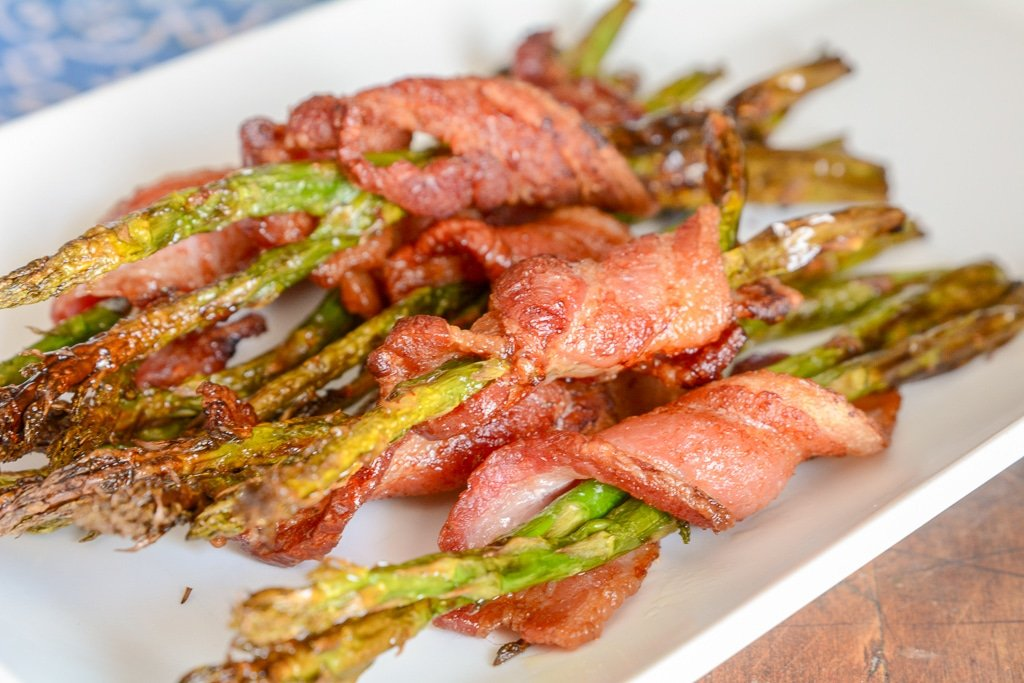 Air Fryer or Ninja Foodi Bacon Wrapped Asparagus