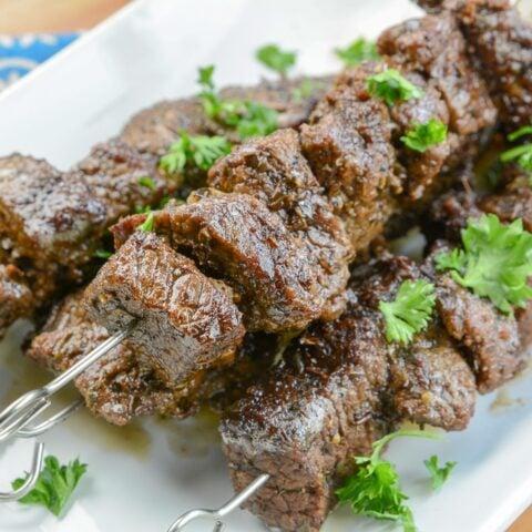 Instant Pot Beef Steak Kabobs