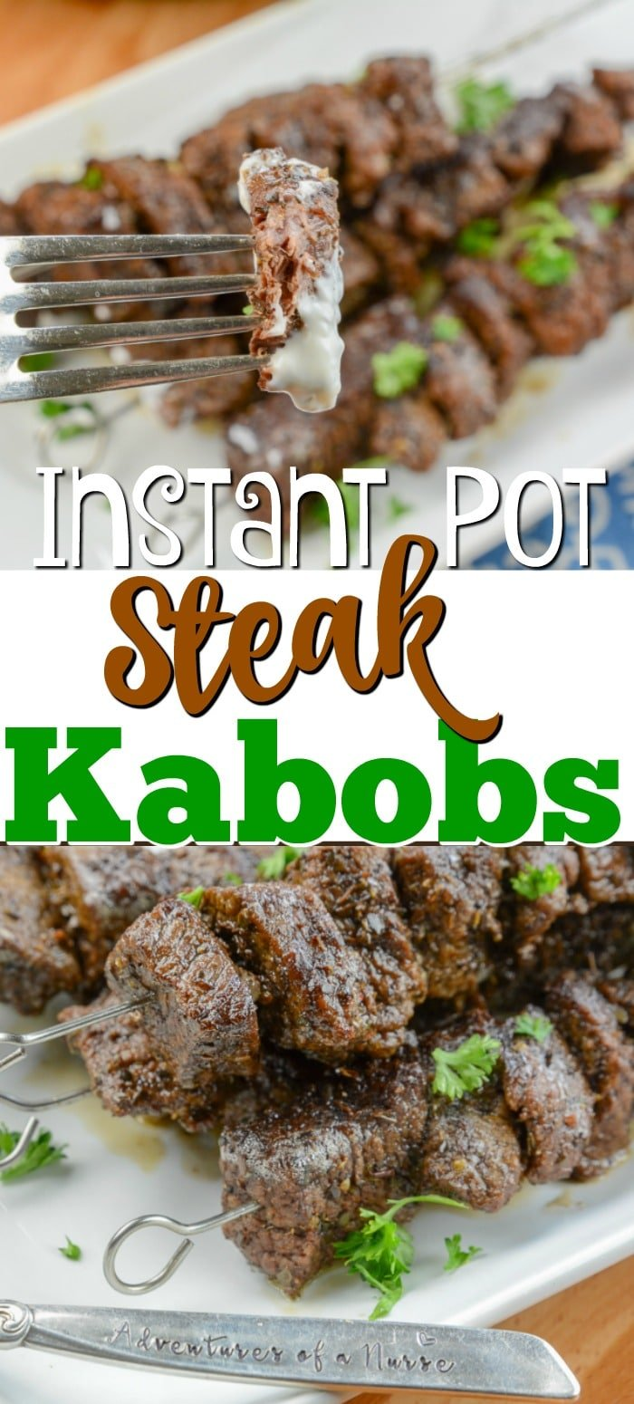 Instant Pot Steak Kabobs