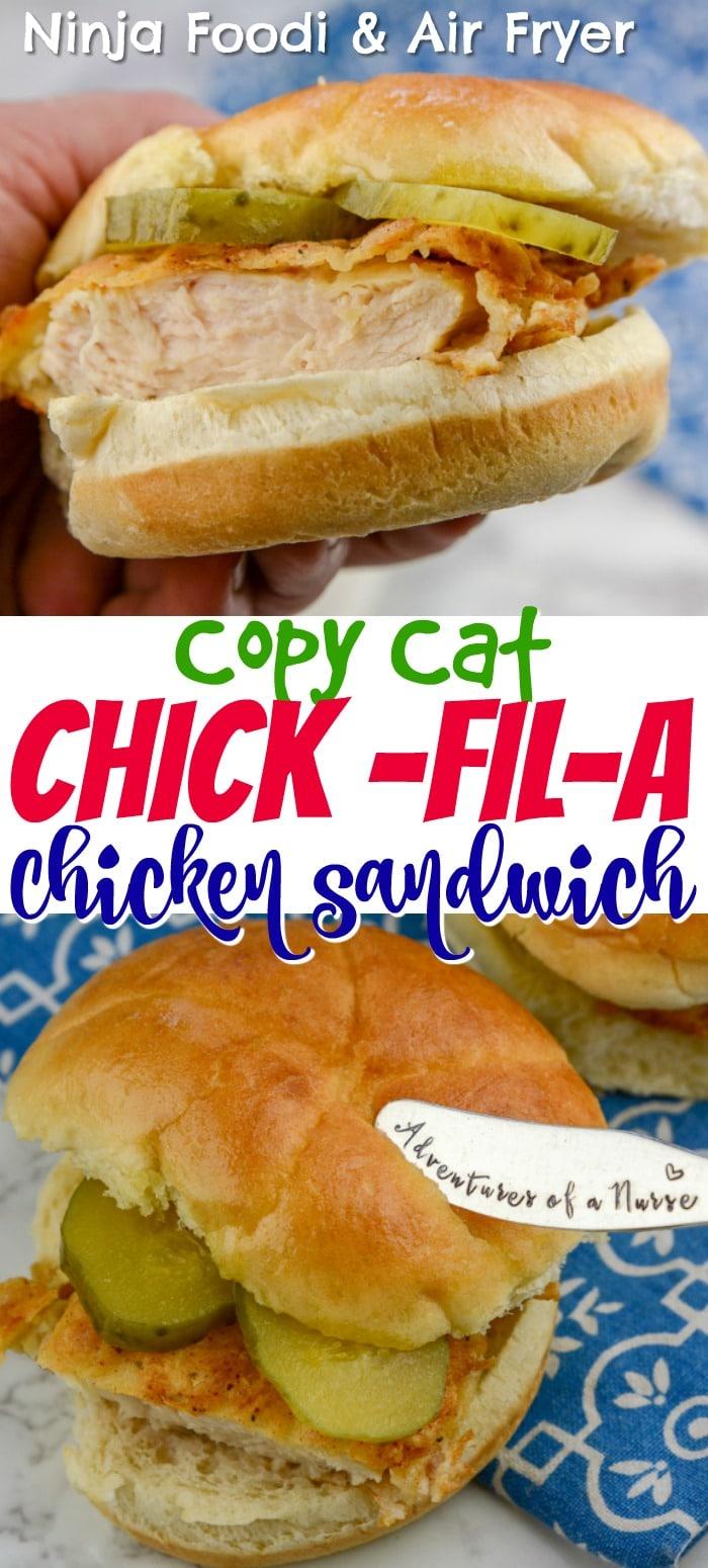 Ninja Foodi And Air Fryer Chick Fil A Copycat Chicken Sandwich