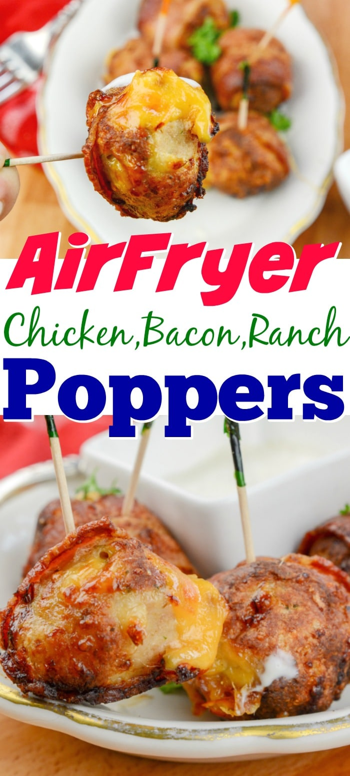 AirFryer Chicken Bacon Ranch Poppers